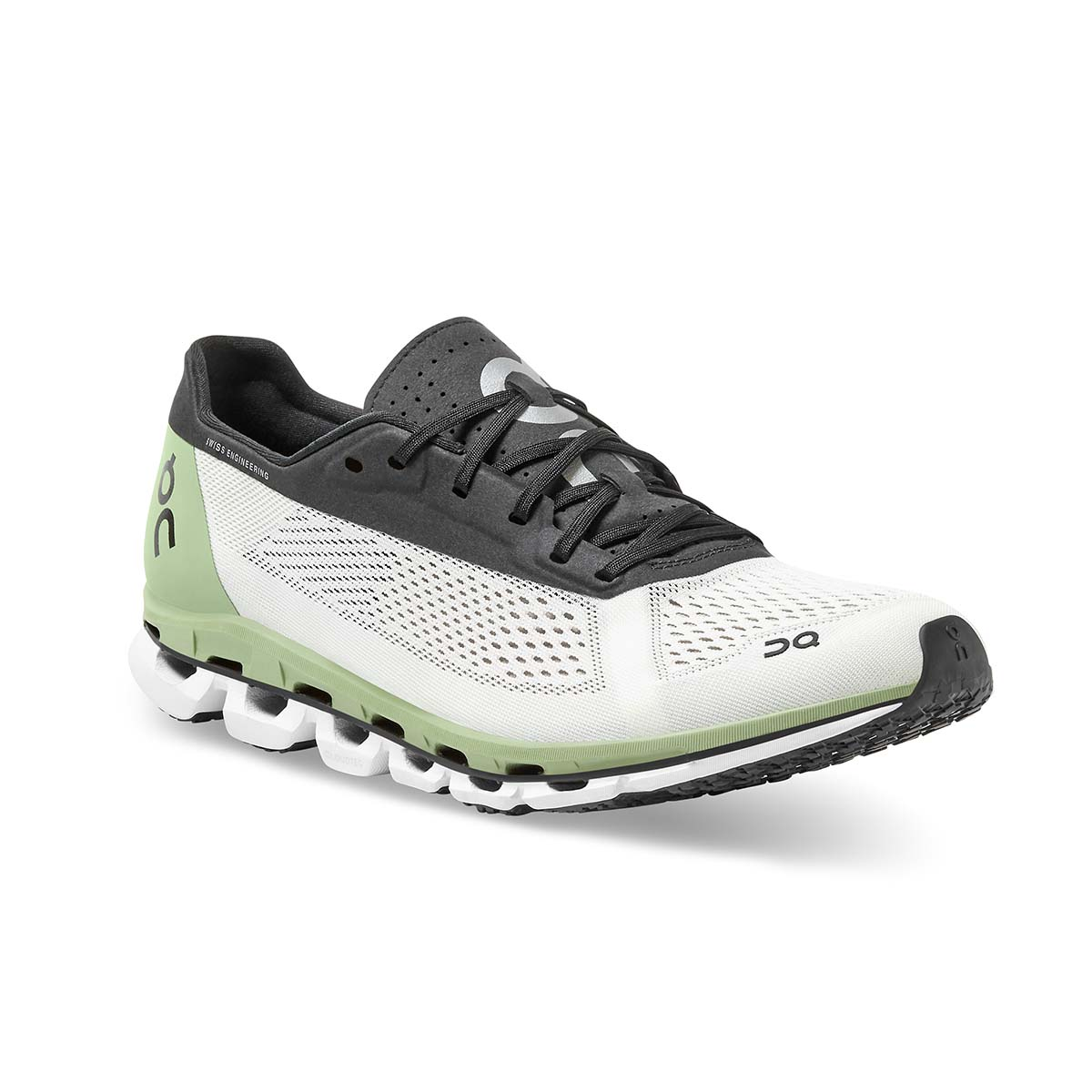 Men's On Cloudboom Running Shoe - Color: White/Black - Size: 7 - Width: Regular, White/Black, large, image 2