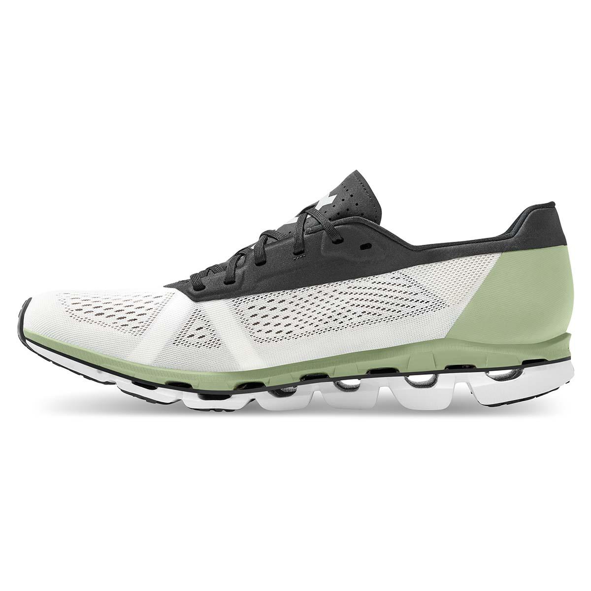 Men's On Cloudboom Running Shoe - Color: White/Black - Size: 7 - Width: Regular, White/Black, large, image 3