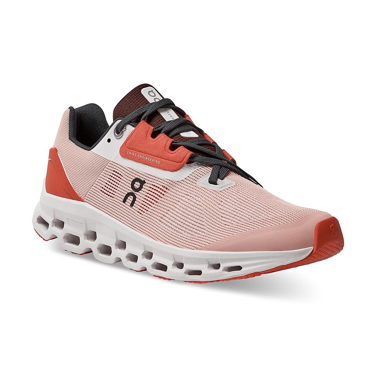 Women's On Cloudstratus 2.0 Running Shoe - Color: Rose/Red - Size: 5 - Width: Regular, Rose/Red, large, image 2