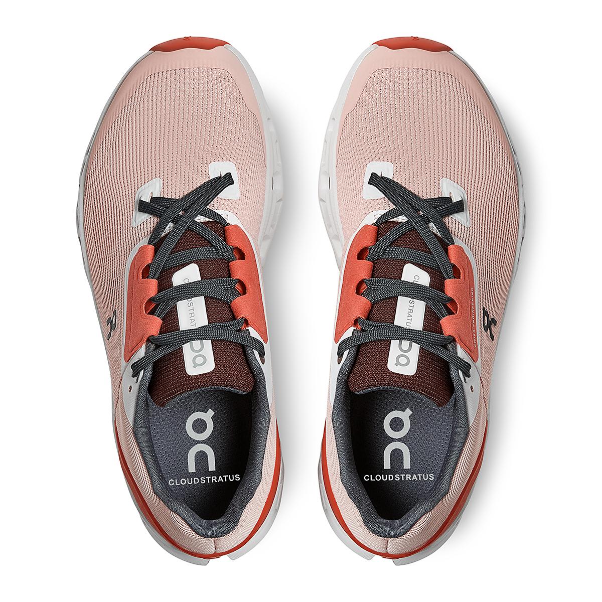 Women's On Cloudstratus 2.0 Running Shoe - Color: Rose/Red - Size: 5 - Width: Regular, Rose/Red, large, image 4