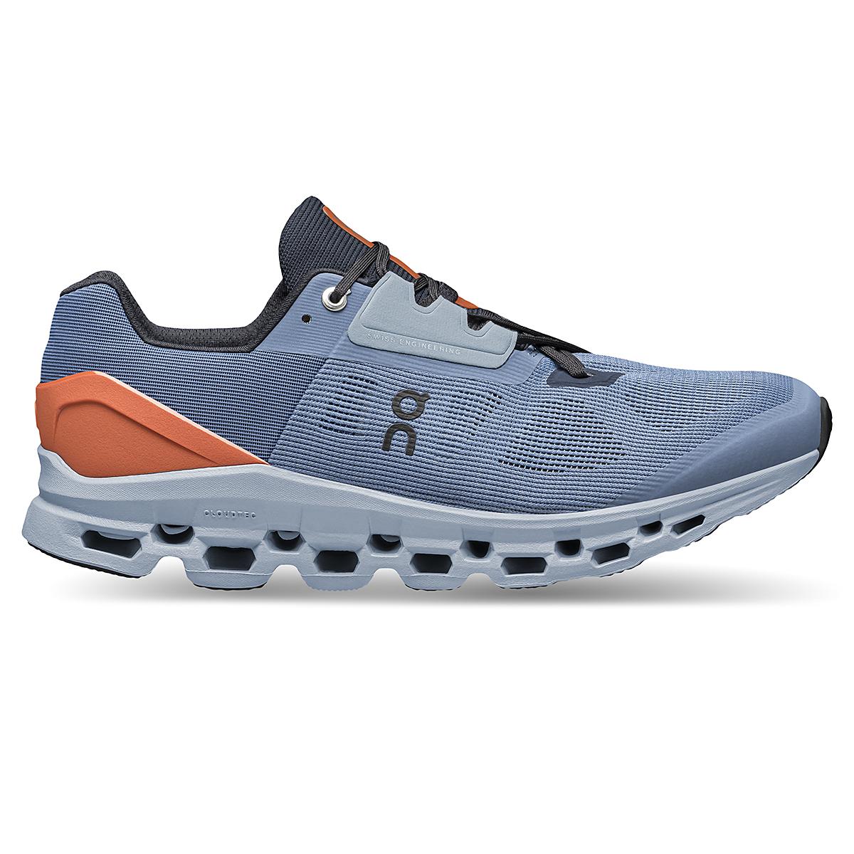 Men's On Cloudstratus 2.0 Running Shoe - Color: Lake/Flare - Size: 7 - Width: Regular, Lake/Flare, large, image 1