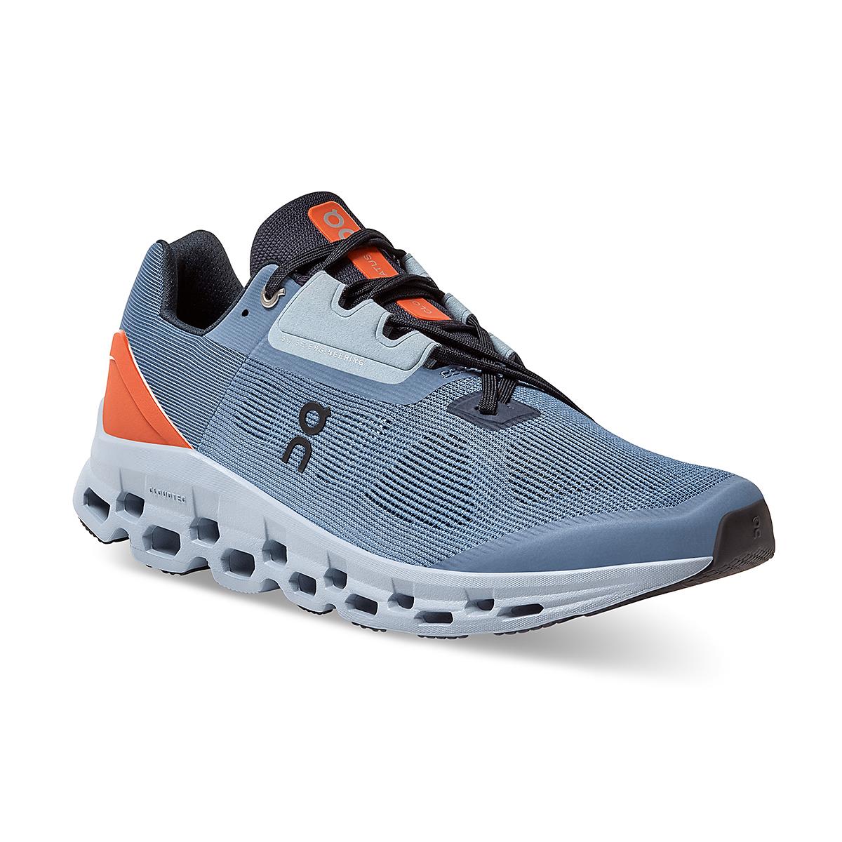 Men's On Cloudstratus 2.0 Running Shoe - Color: Lake/Flare - Size: 7 - Width: Regular, Lake/Flare, large, image 2