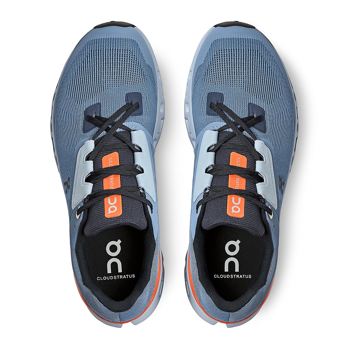 Men's On Cloudstratus 2.0 Running Shoe - Color: Lake/Flare - Size: 7 - Width: Regular, Lake/Flare, large, image 4