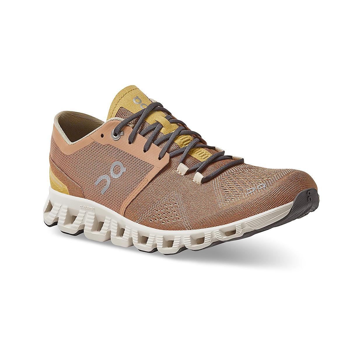Women's On Cloud X 2.0 Training Shoe - Color: Mocha/Sand - Size: 5 - Width: Regular, Mocha/Sand, large, image 2
