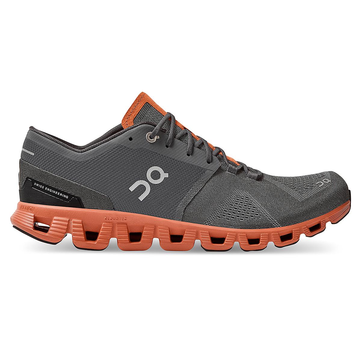Men's On Cloud X 2.0 Training Shoe - Color: Rust/Rock - Size: 7 - Width: Regular, Rust/Rock, large, image 1