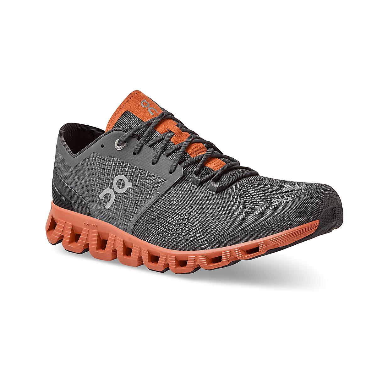Men's On Cloud X 2.0 Training Shoe - Color: Rust/Rock - Size: 7 - Width: Regular, Rust/Rock, large, image 2