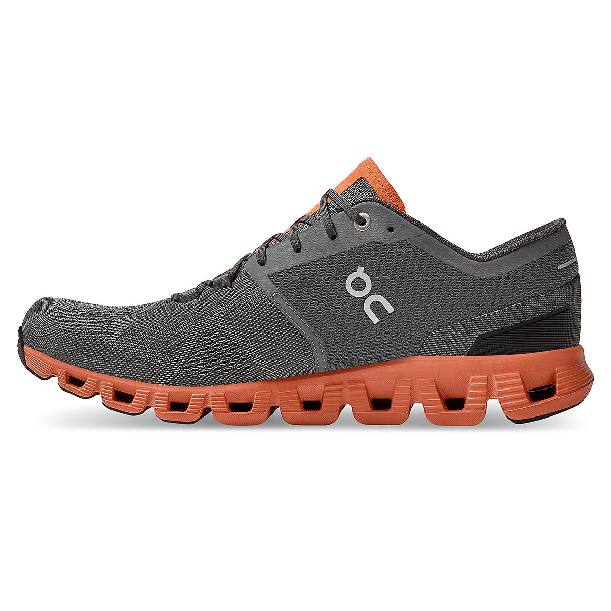 Men's On Cloud X 2.0 Training Shoe - Color: Rust/Rock - Size: 7 - Width: Regular, Rust/Rock, large, image 3