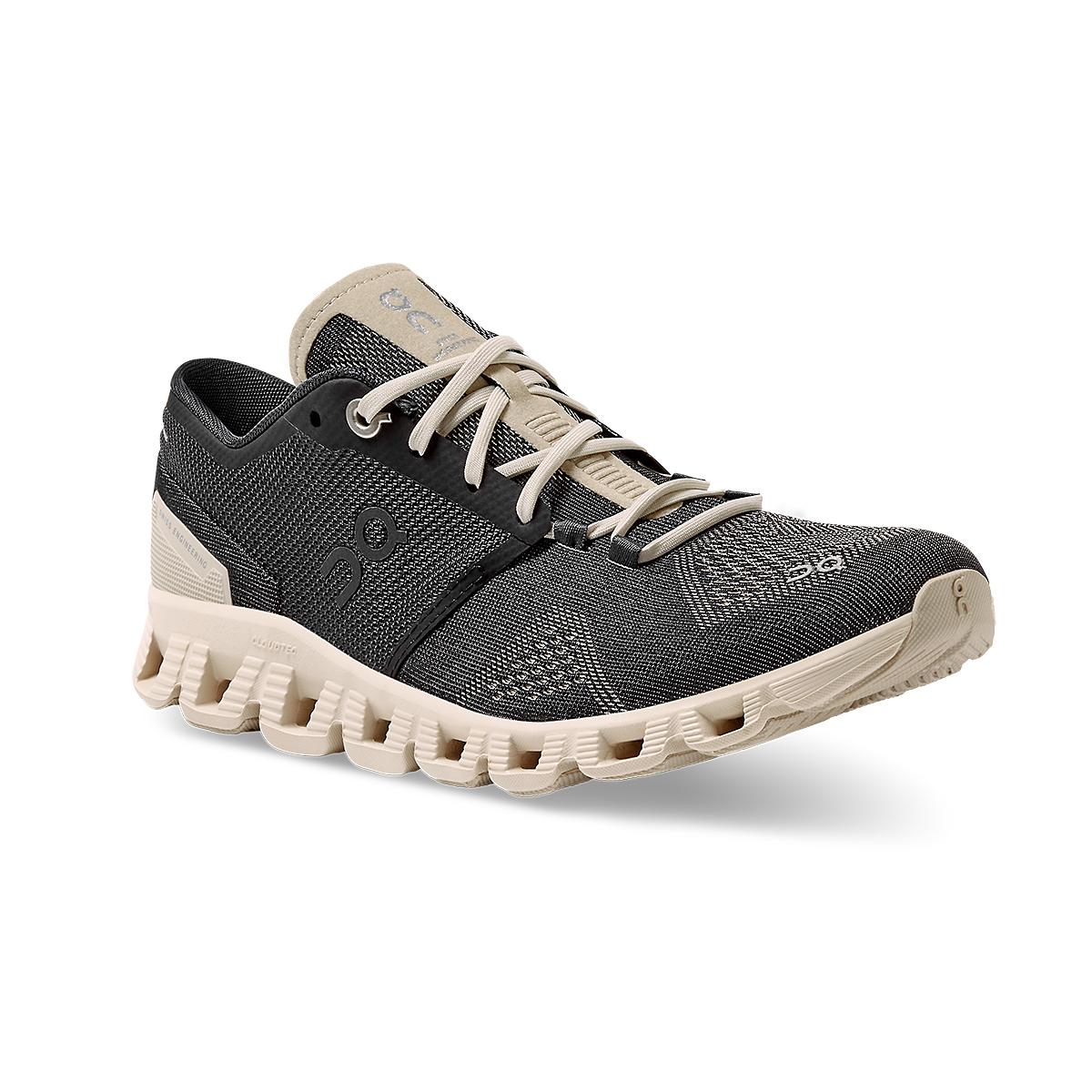 Women's On Cloud X 2.0 Running Shoe - Color: Black/Pearl - Size: 5 - Width: Regular, Black/Pearl, large, image 2