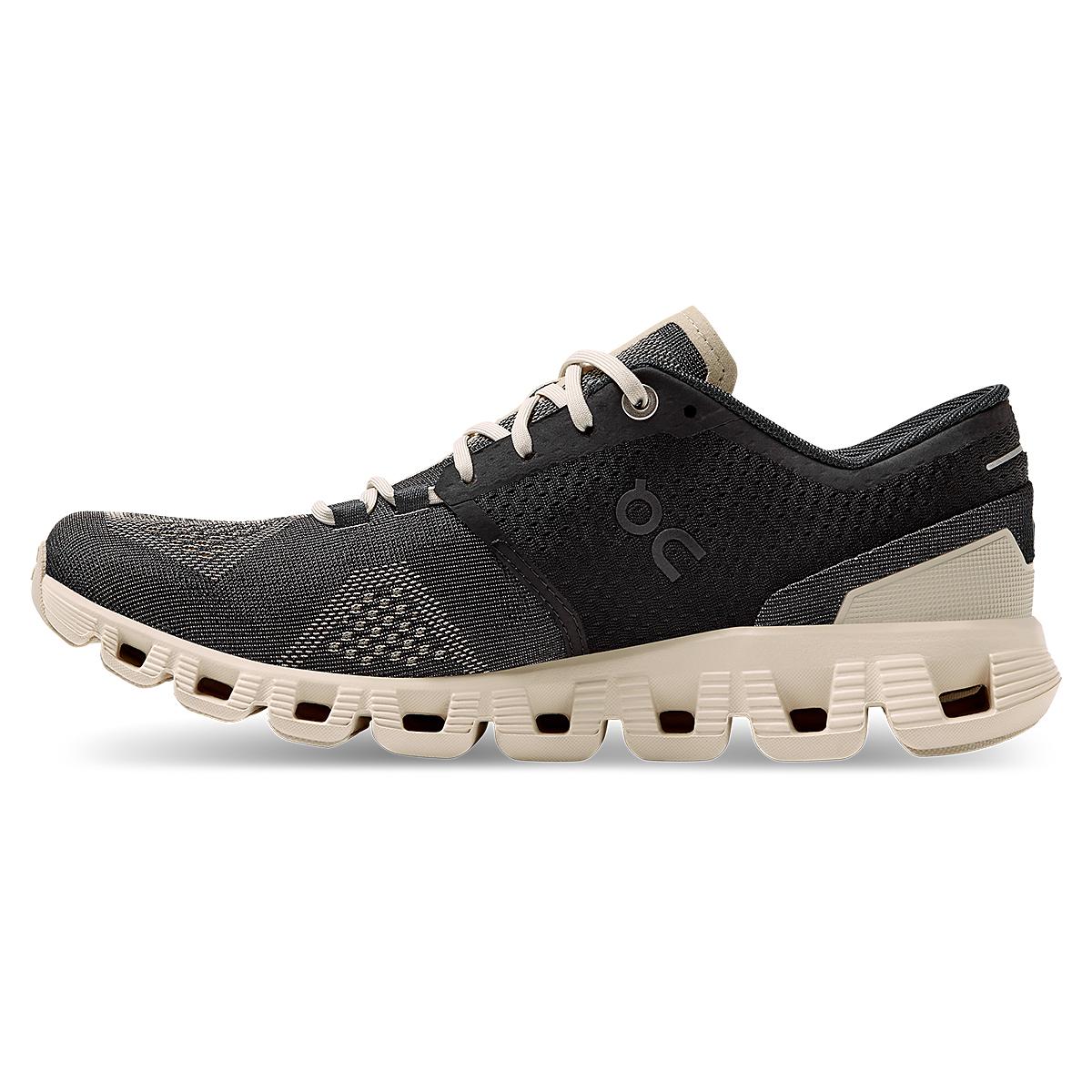 Women's On Cloud X 2.0 Running Shoe - Color: Black/Pearl - Size: 5 - Width: Regular, Black/Pearl, large, image 3