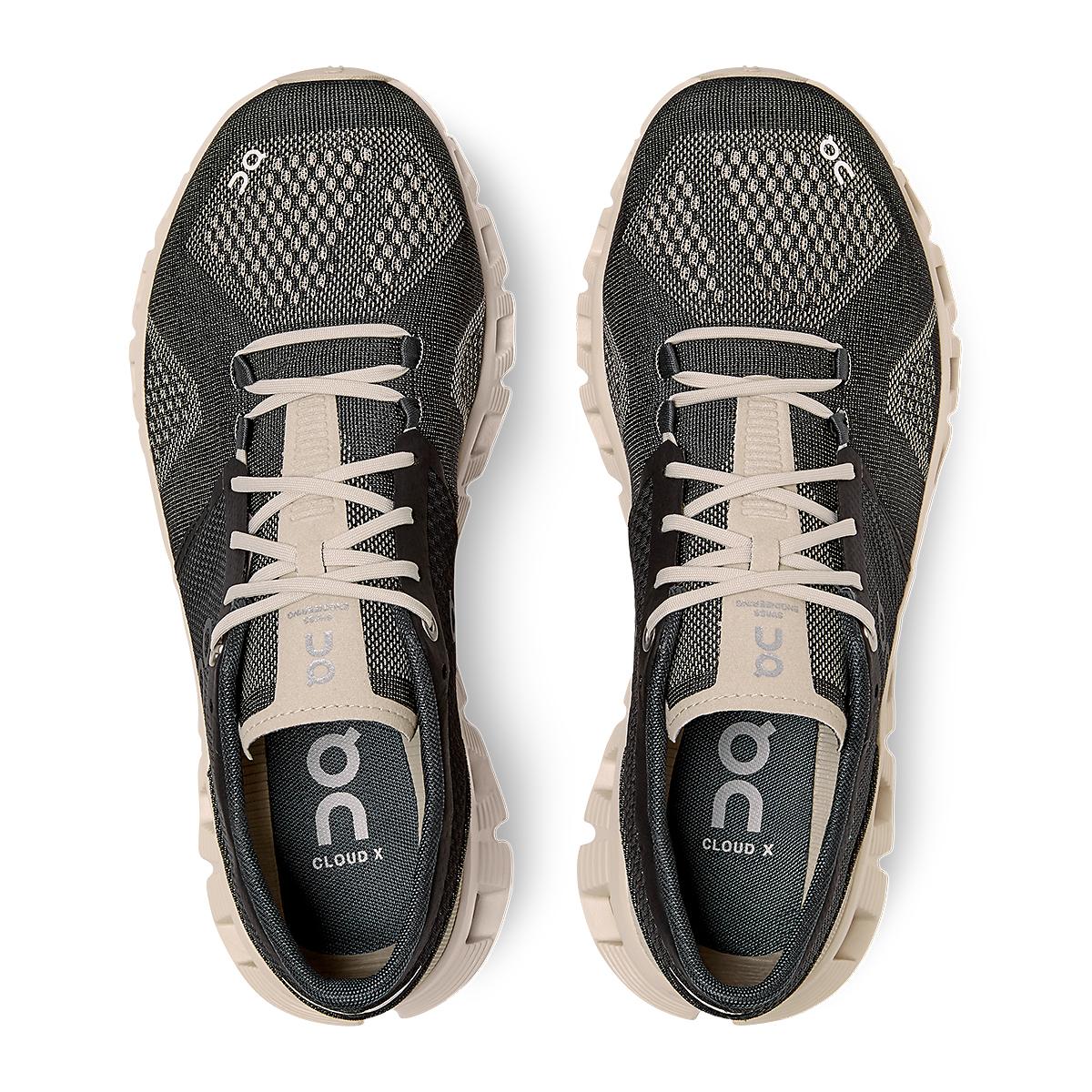 Women's On Cloud X 2.0 Running Shoe - Color: Black/Pearl - Size: 5 - Width: Regular, Black/Pearl, large, image 4