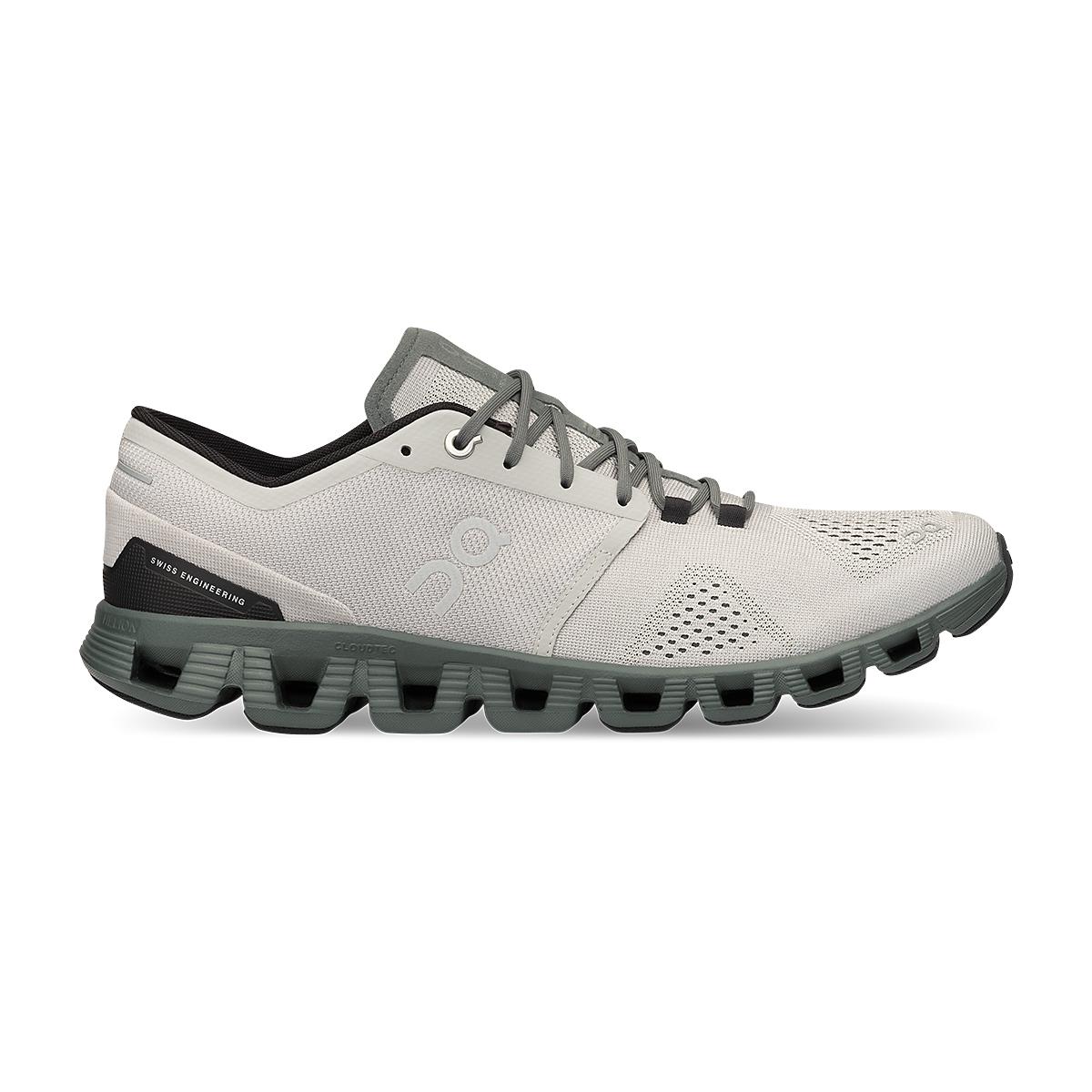 Men's On Cloud X 2.0 Running Shoe - Color: Glacier/Olive - Size: 7 - Width: Regular, Glacier/Olive, large, image 1