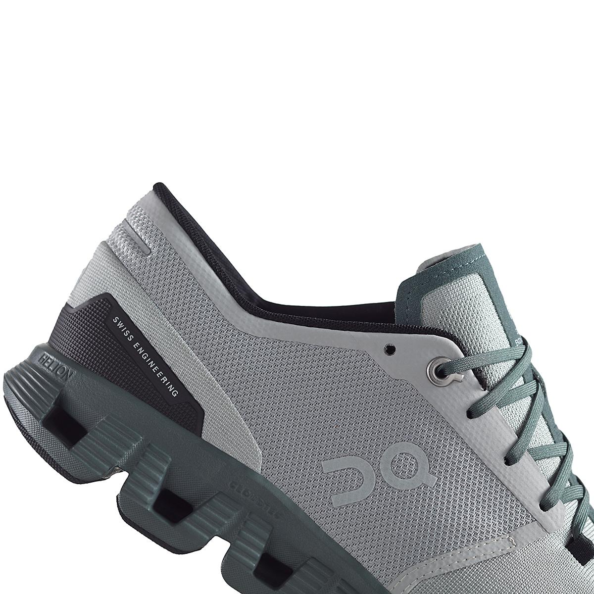 Men's On Cloud X 2.0 Running Shoe - Color: Glacier/Olive - Size: 7 - Width: Regular, Glacier/Olive, large, image 4
