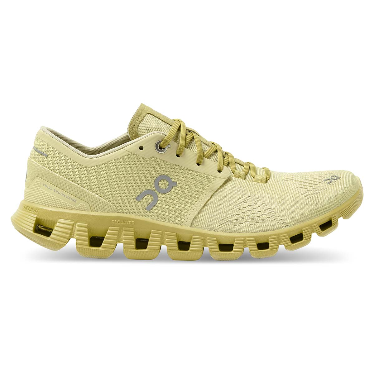 Women's On Cloud X 2.0 Running Shoe - Color: Glade/Citron - Size: 5 - Width: Regular, Glade/Citron, large, image 1