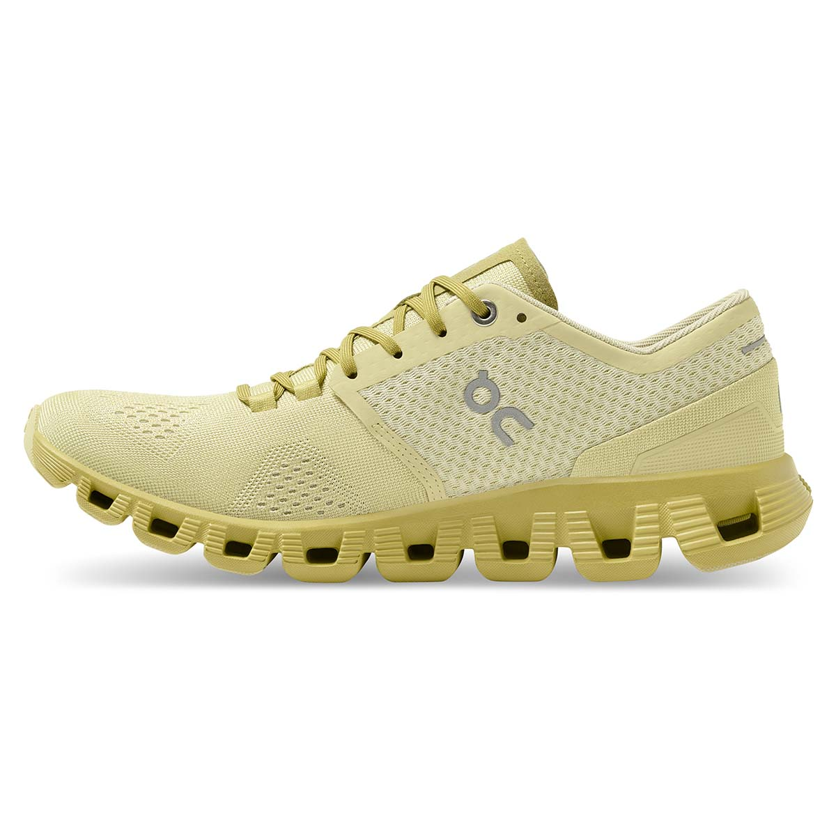 Women's On Cloud X 2.0 Running Shoe - Color: Glade/Citron - Size: 5 - Width: Regular, Glade/Citron, large, image 3