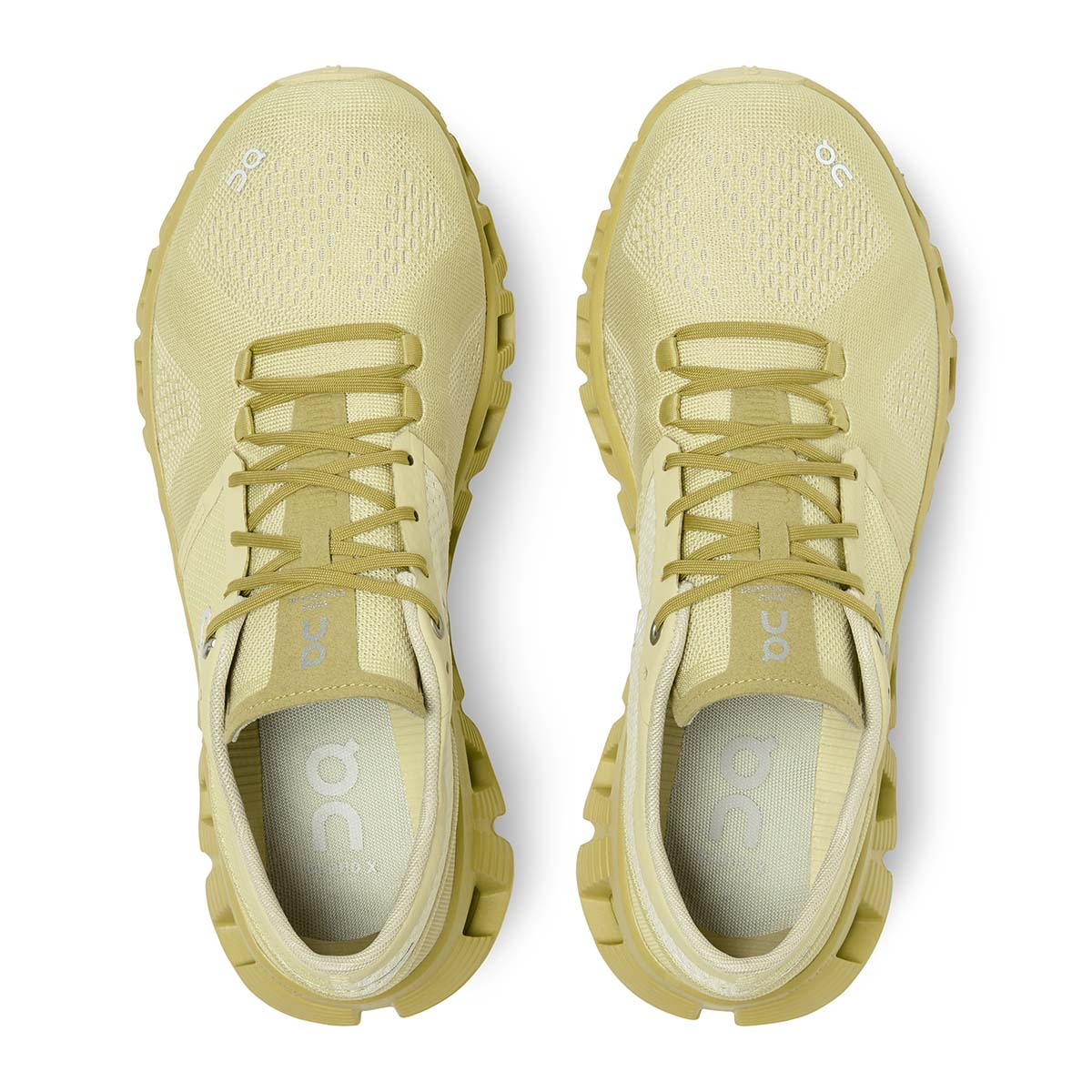 Women's On Cloud X 2.0 Running Shoe - Color: Glade/Citron - Size: 5 - Width: Regular, Glade/Citron, large, image 4