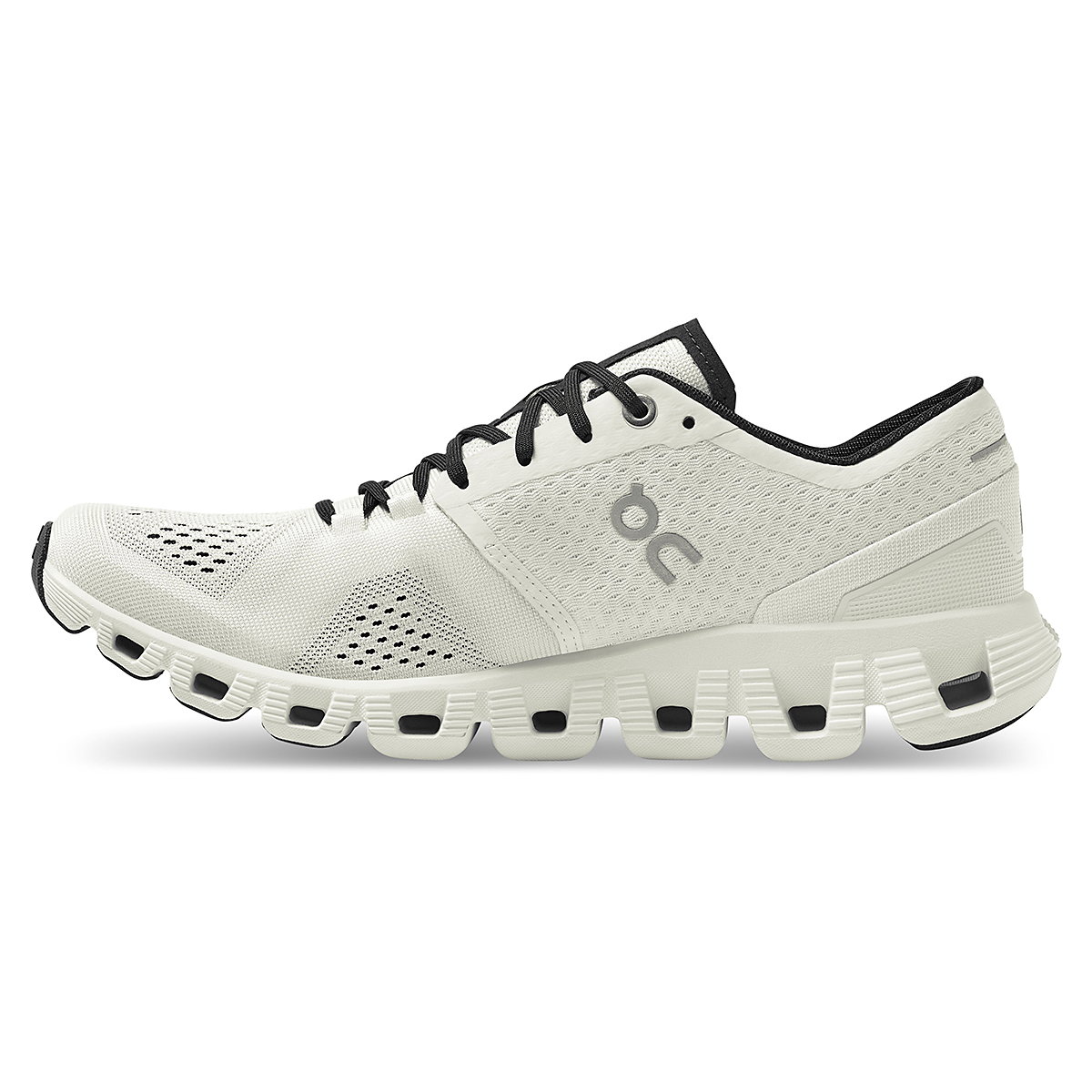 Women's On Cloud X 2.0 Running Shoe - Color: White/Black - Size: 5 - Width: Regular, White/Black, large, image 2
