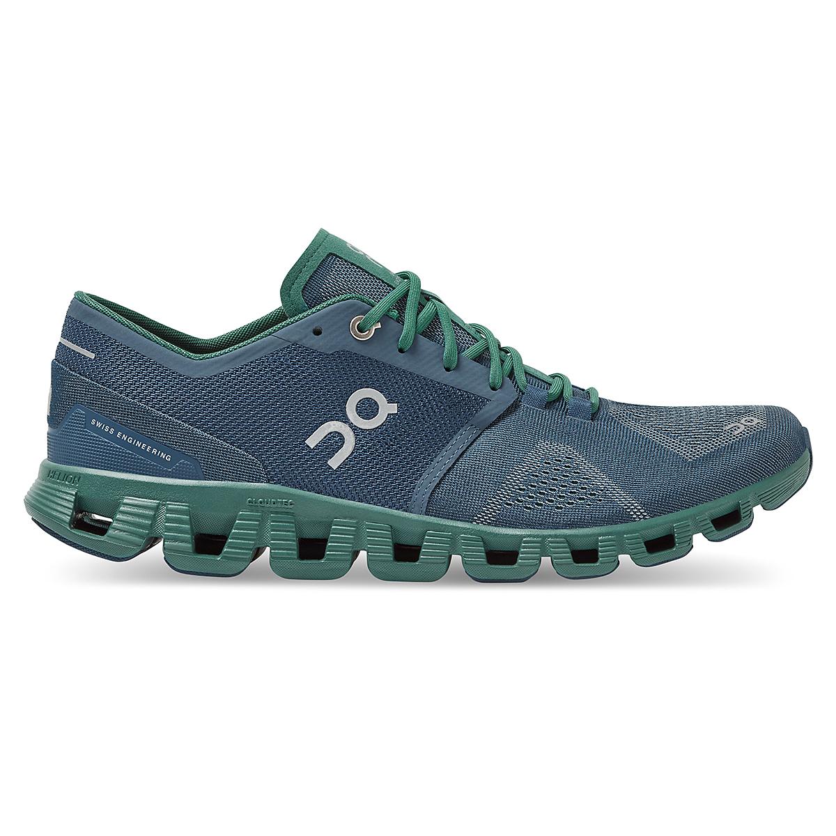 Men's On Cloud X 2.0 Running Shoe - Color: Storm/Tide - Size: 7 - Width: Regular, Storm/Tide, large, image 1
