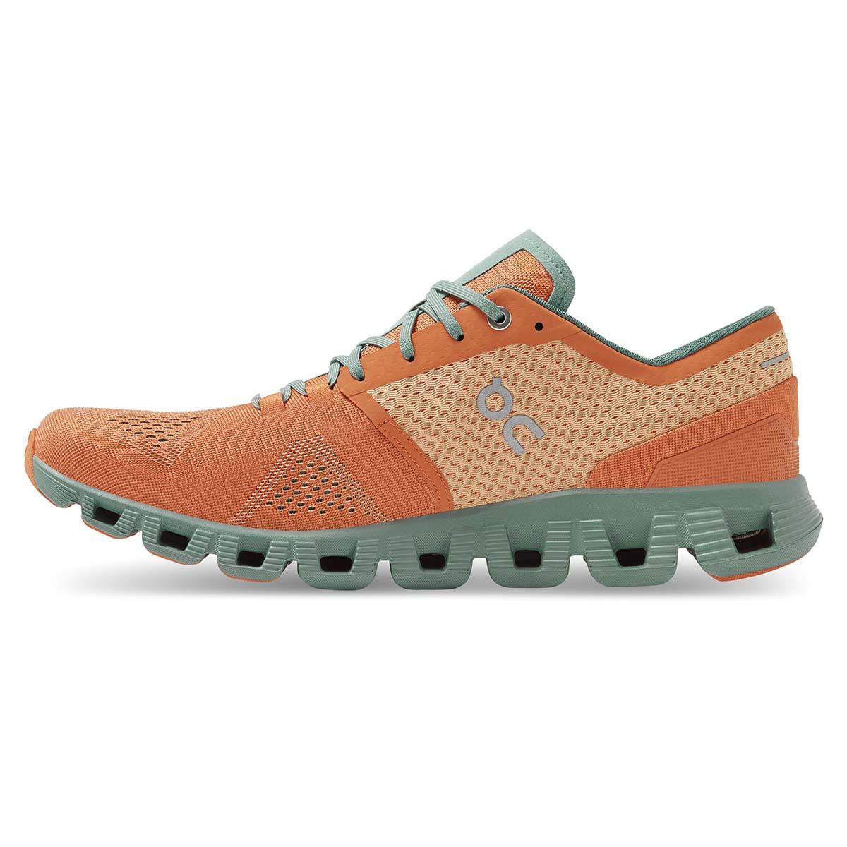 Men's On Cloud X 2.0 Running Shoe - Color: Orange/Sea - Size: 7 - Width: Regular, Orange/Sea, large, image 3