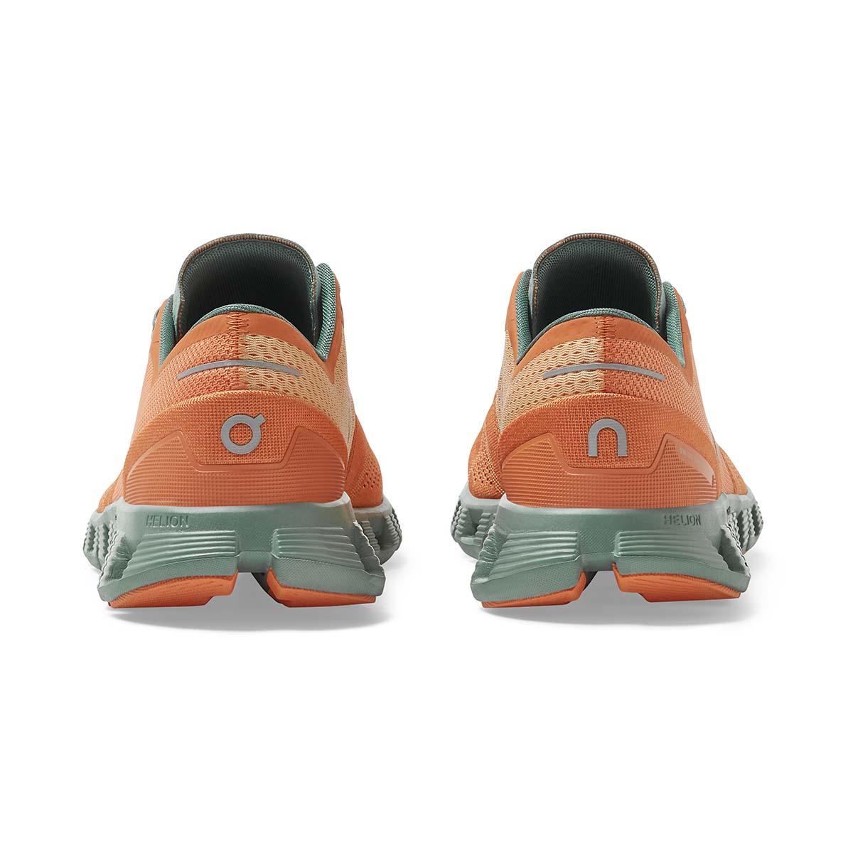 Men's On Cloud X 2.0 Running Shoe - Color: Orange/Sea - Size: 7 - Width: Regular, Orange/Sea, large, image 6