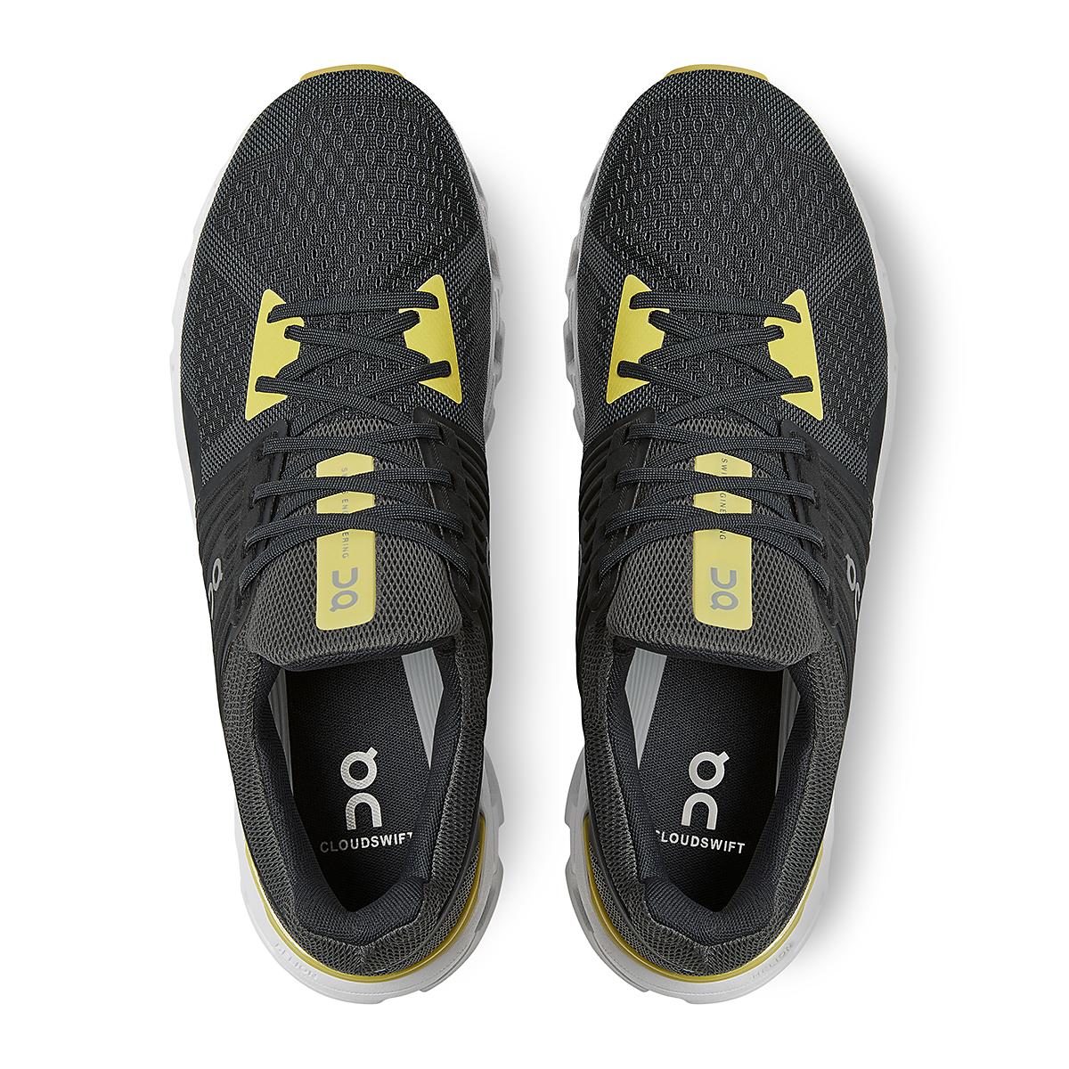 Men's On Cloudswift 2.0 Running Shoe - Color: Magnet/Citron - Size: 7 - Width: Regular, Magnet/Citron, large, image 4