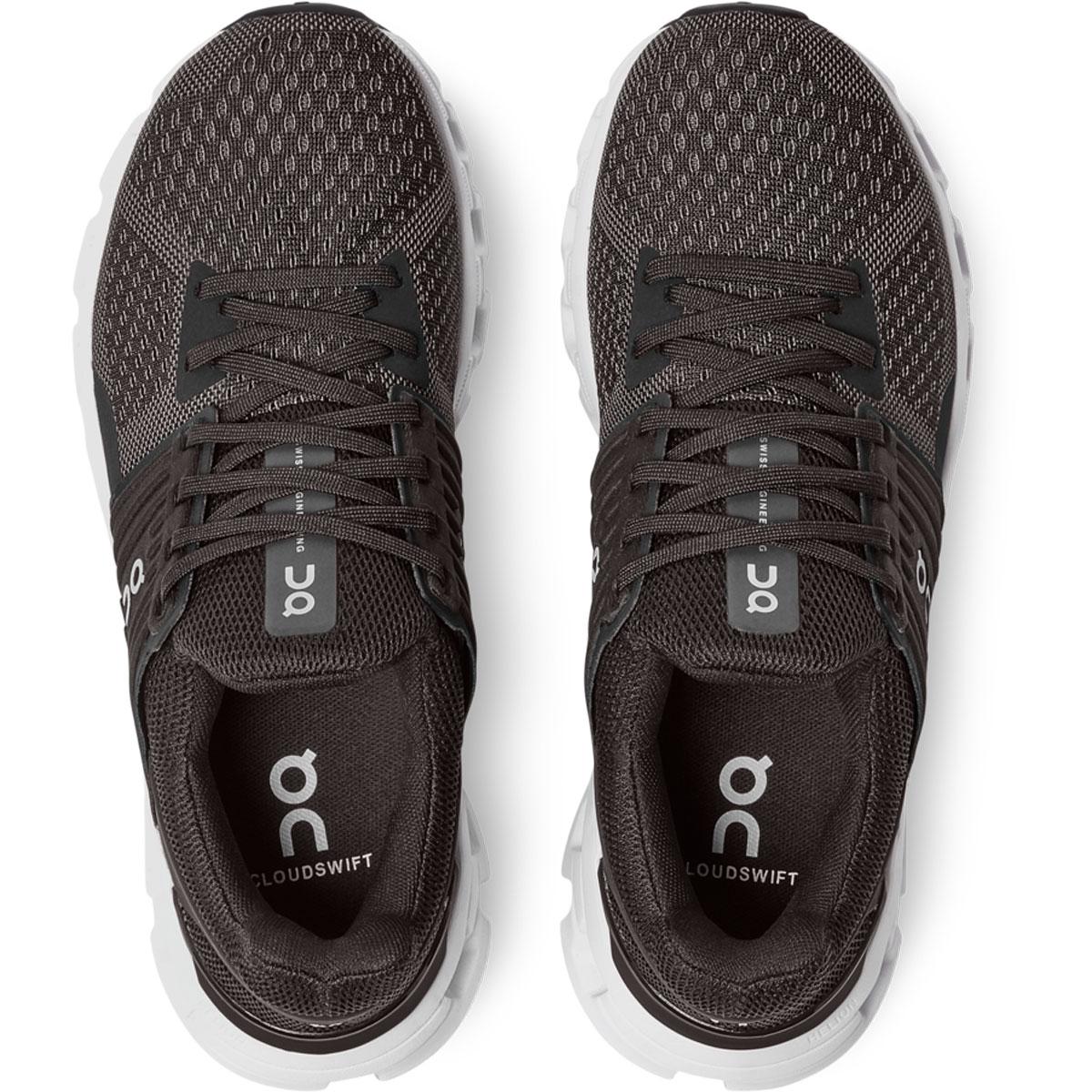 Women's On Cloudswift 2.0 Running Shoe - Color: Black/Rock - Size: 5 - Width: Regular, Black/Rock, large, image 4