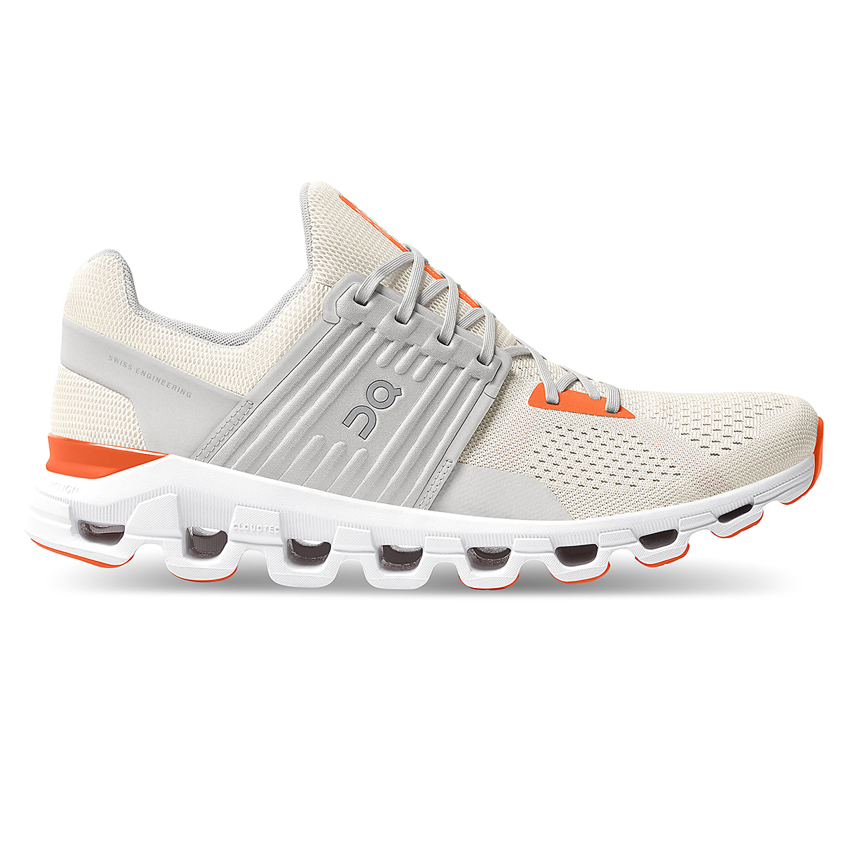 Men's On Cloudswift 2.0 Running Shoe - Color: White | Flame - Size: 7 - Width: Regular, White | Flame, large, image 1