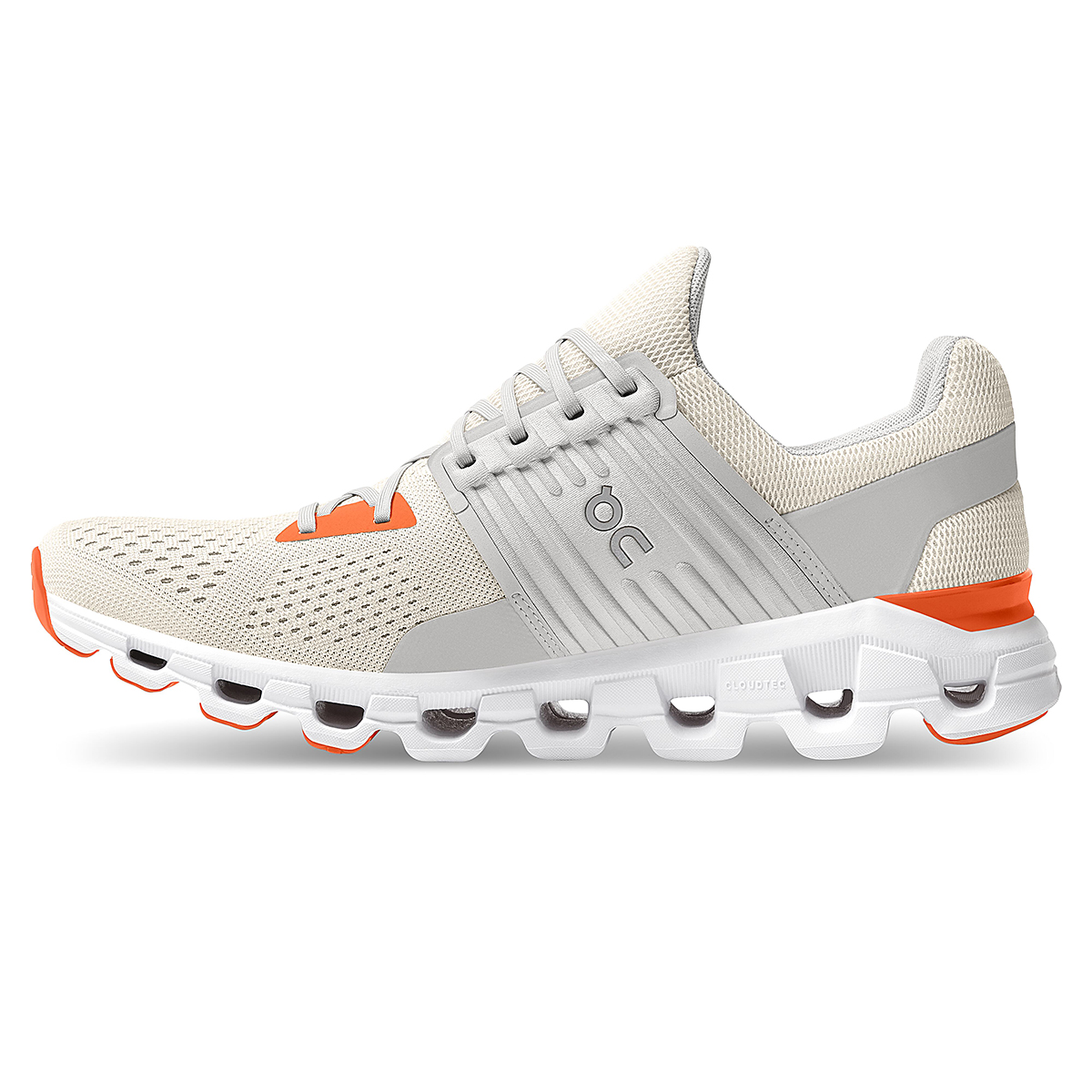 Men's On Cloudswift 2.0 Running Shoe - Color: White | Flame - Size: 7 - Width: Regular, White | Flame, large, image 2