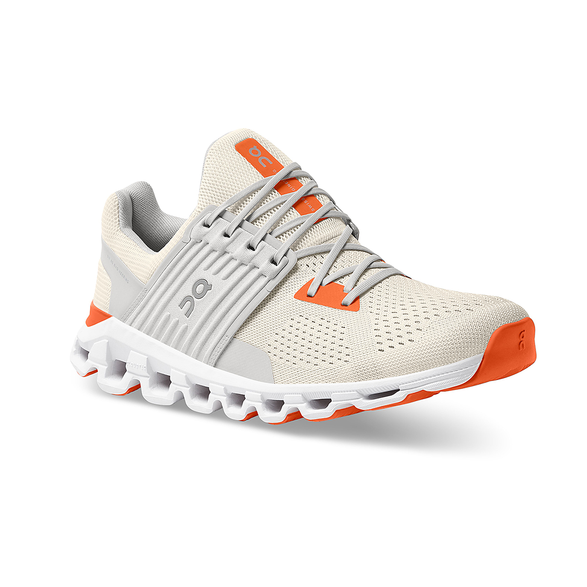 Men's On Cloudswift 2.0 Running Shoe - Color: White | Flame - Size: 7 - Width: Regular, White | Flame, large, image 3