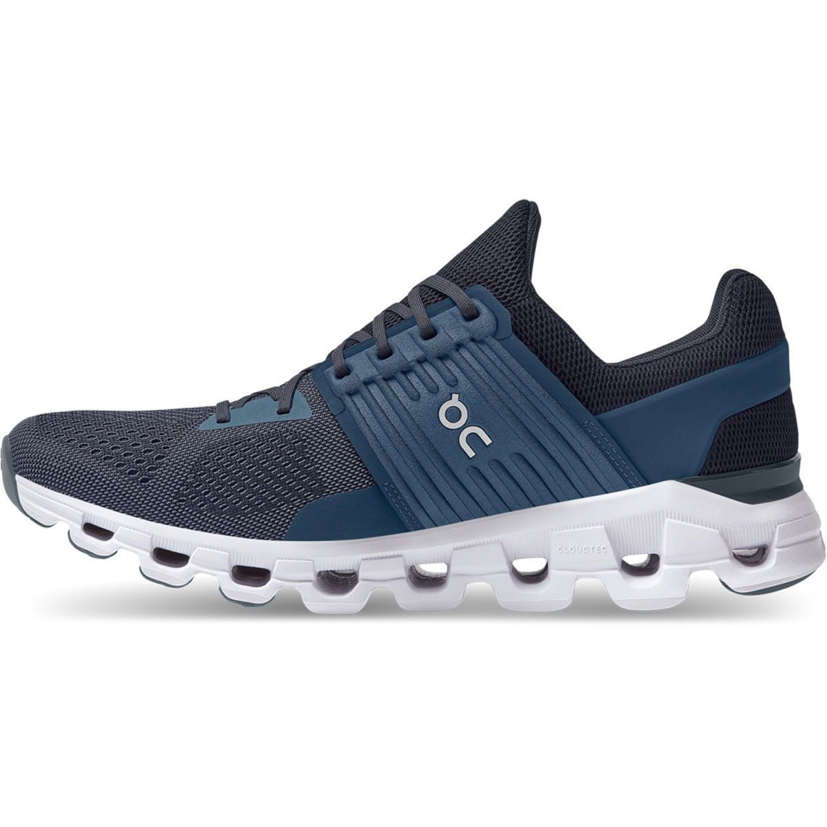 Men's On Cloudswift 2.0 Running Shoe - Color: Denim/Midnight - Size: 7 - Width: Regular, Denim/Midnight, large, image 2