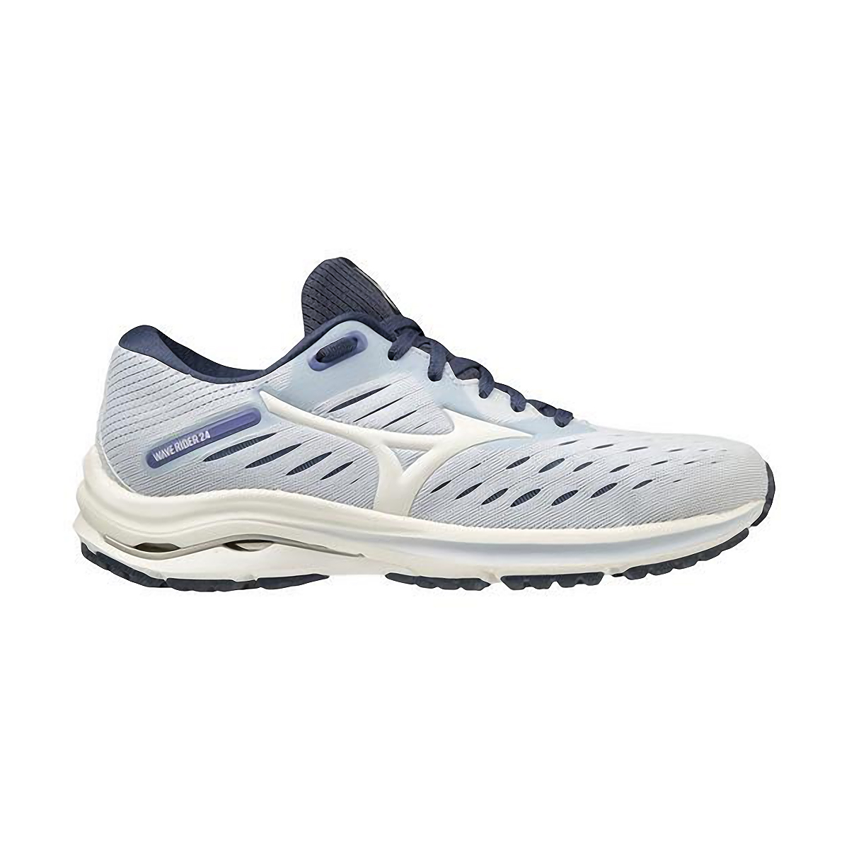 Women's Mizuno Wave Rider 24 Running Shoe - Color: Arctic Ice/Snow White - Size: 6 - Width: Regular, Arctic Ice/Snow White, large, image 1