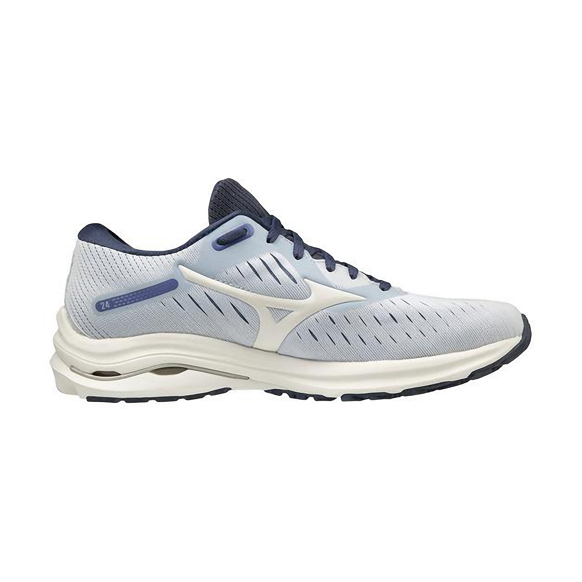 Women's Mizuno Wave Rider 24 Running Shoe - Color: Arctic Ice/Snow White - Size: 6 - Width: Regular, Arctic Ice/Snow White, large, image 4
