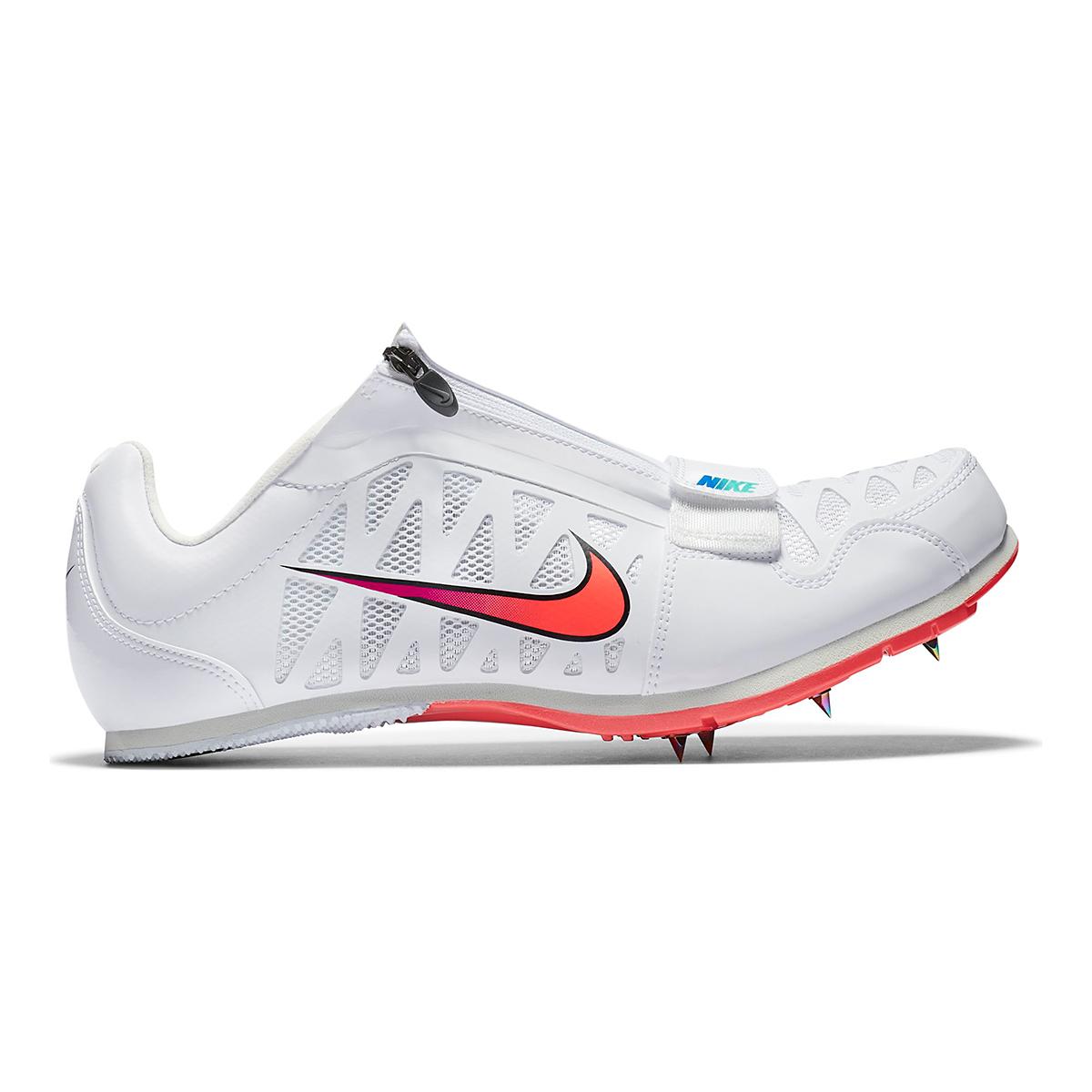 Nike Zoom Long Jump 4 Track Spikes - Color: White/Flash Crimson - Size: M4/W5.5 - Width: Regular, White/Flash Crimson, large, image 1