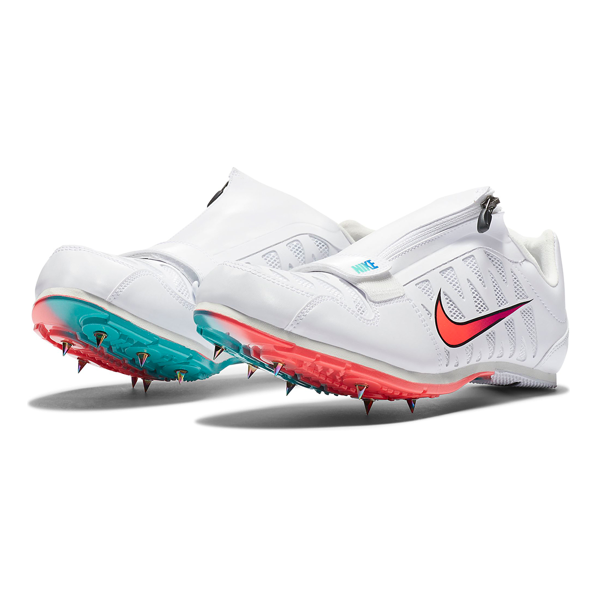 Nike Zoom Long Jump 4 Track Spikes - Color: White/Flash Crimson - Size: M4/W5.5 - Width: Regular, White/Flash Crimson, large, image 4