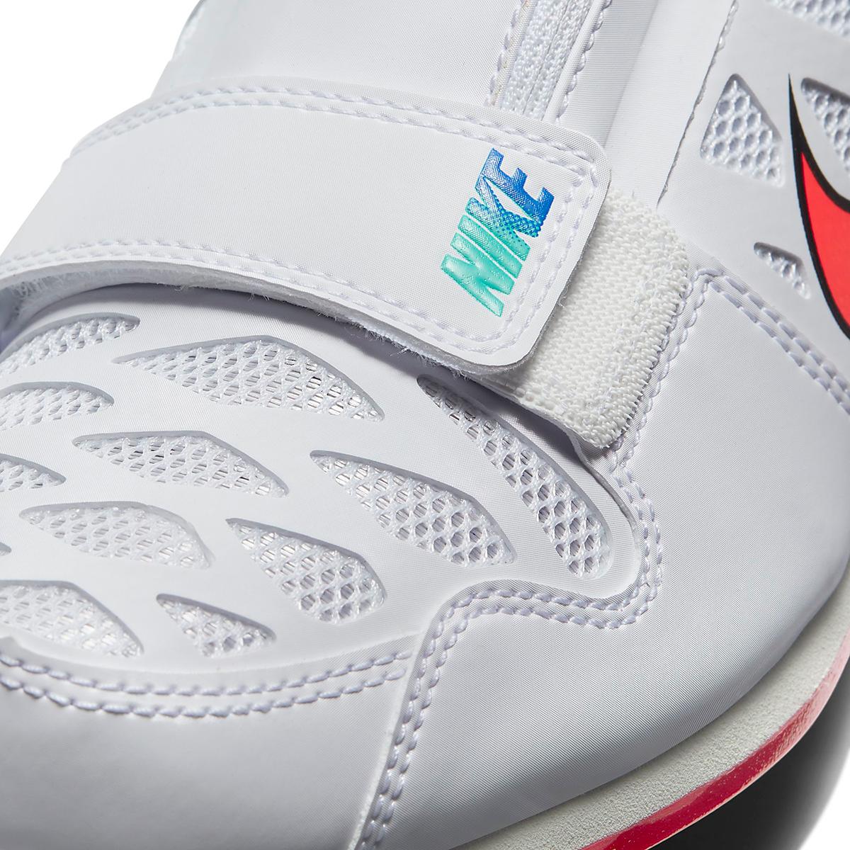 Nike Zoom Long Jump 4 Track Spikes - Color: White/Flash Crimson - Size: M4/W5.5 - Width: Regular, White/Flash Crimson, large, image 7