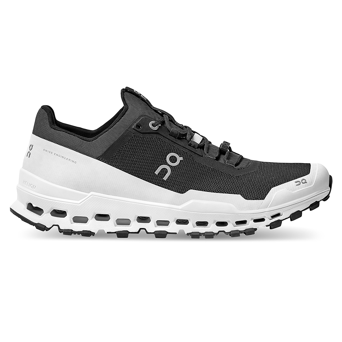 Men's On Cloudultra Trail-Running Shoes - Color: Black/White - Size: 7 - Width: Regular, Black/White, large, image 1