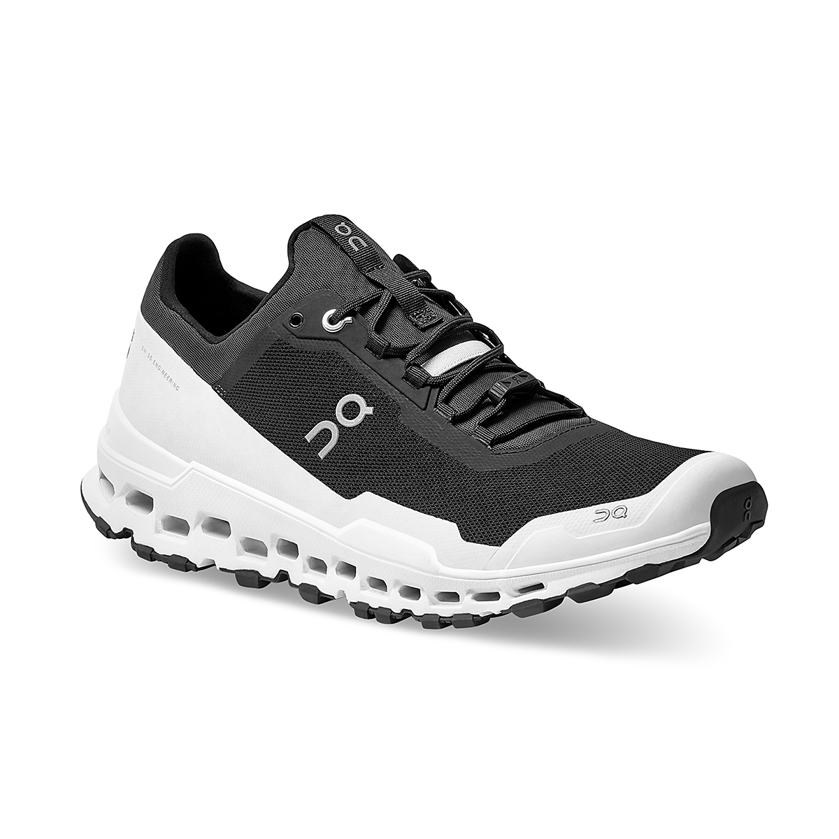 Men's On Cloudultra Trail-Running Shoes - Color: Black/White - Size: 7 - Width: Regular, Black/White, large, image 3
