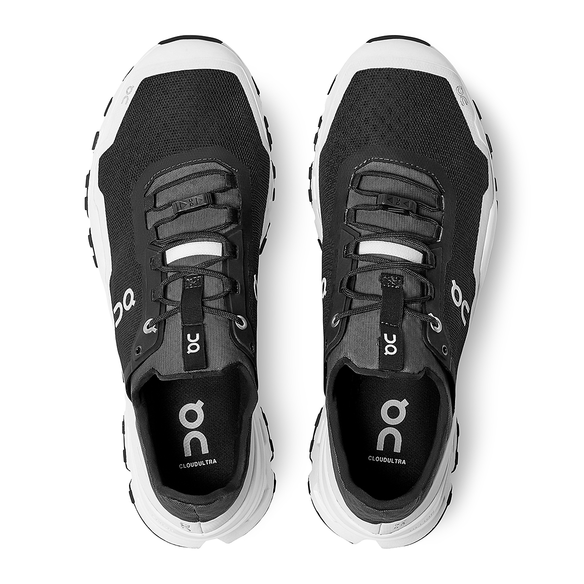 Men's On Cloudultra Trail-Running Shoes - Color: Black/White - Size: 7 - Width: Regular, Black/White, large, image 4