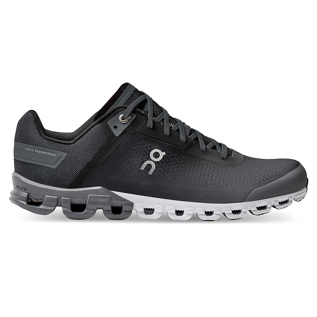 Men's On Cloudflow 3.0 Running Shoe - Color: Black/Asphalt - Size: 7 - Width: Regular, Black/Asphalt, large, image 1