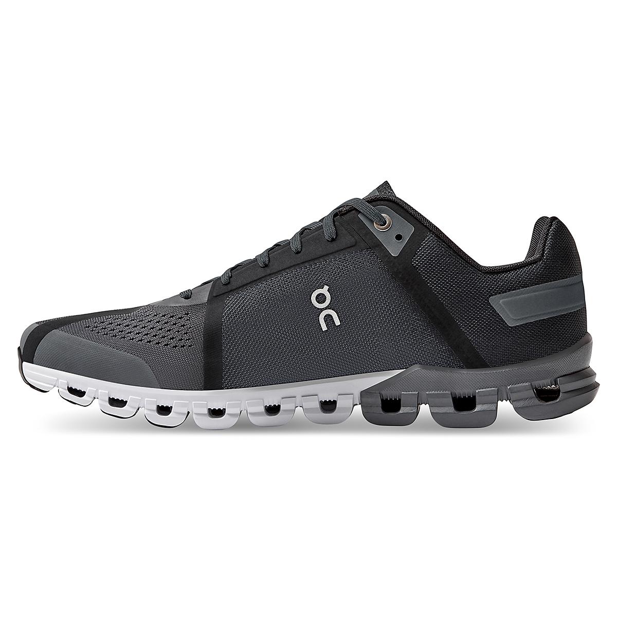Men's On Cloudflow 3.0 Running Shoe - Color: Black/Asphalt - Size: 7 - Width: Regular, Black/Asphalt, large, image 2