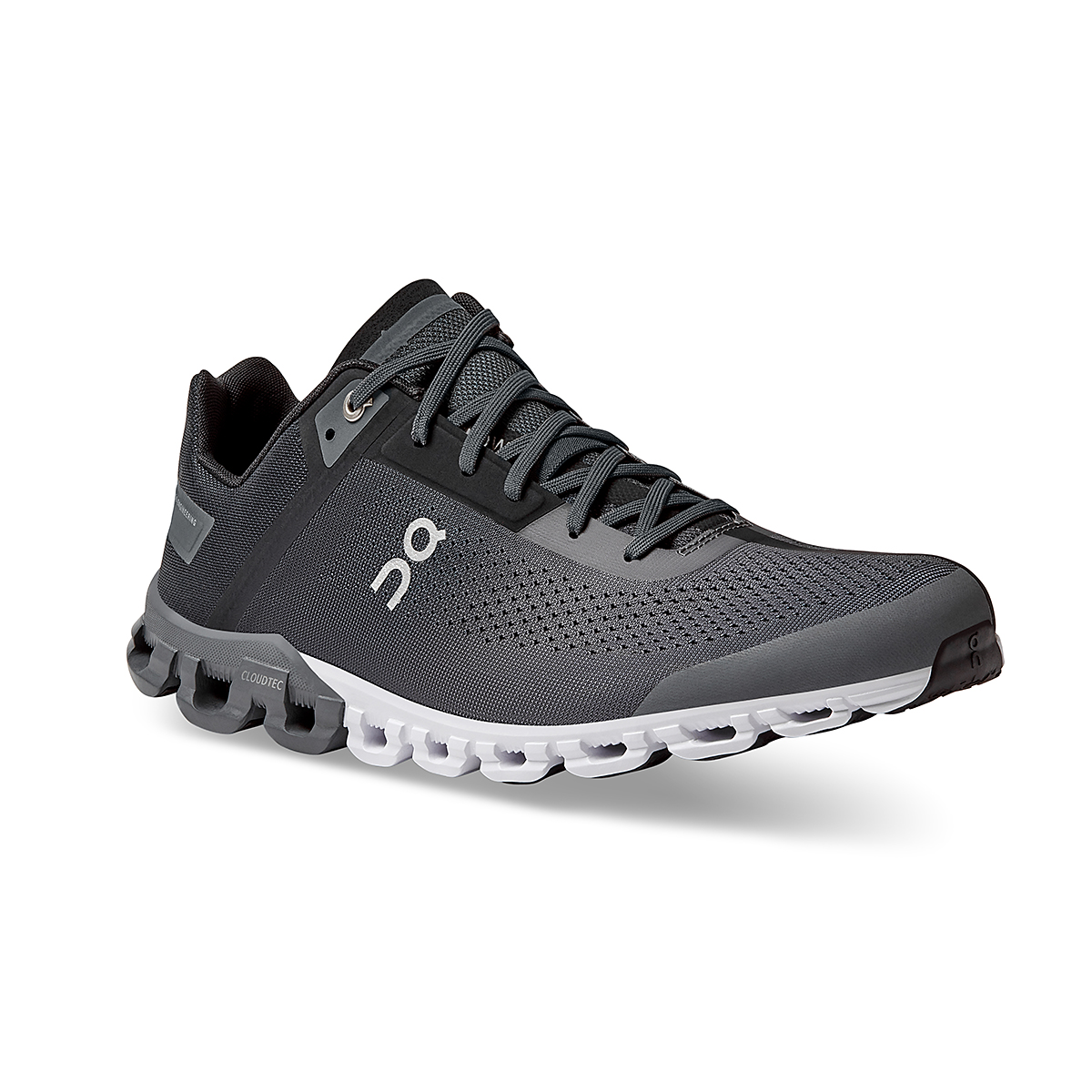 Men's On Cloudflow 3.0 Running Shoe - Color: Black/Asphalt - Size: 7 - Width: Regular, Black/Asphalt, large, image 3