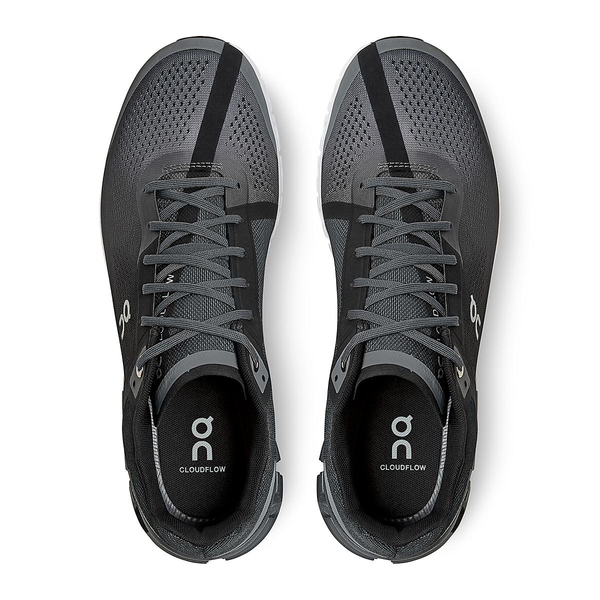 Men's On Cloudflow 3.0 Running Shoe - Color: Black/Asphalt - Size: 7 - Width: Regular, Black/Asphalt, large, image 4