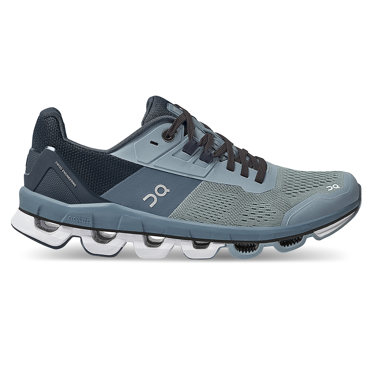 Women's On Cloudace Running Shoe - Color: Wash   Navy - Size: 6.5 - Width: Regular, Wash   Navy, large, image 1