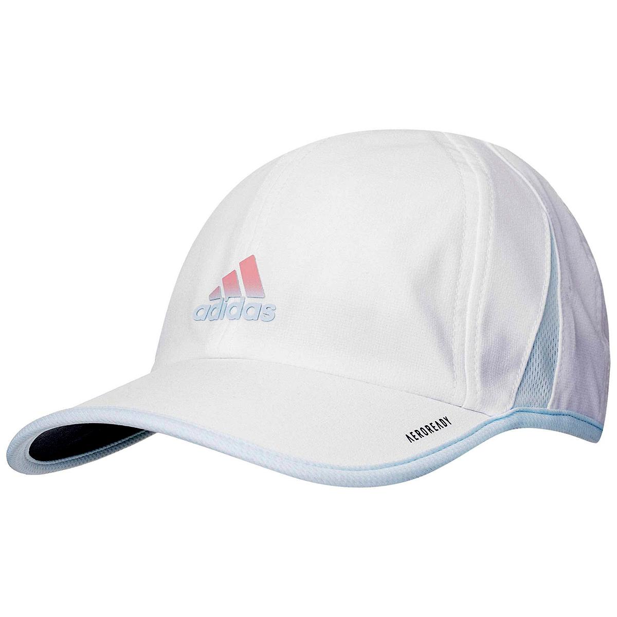Women's Adidas Superlite Cap - Color: White/Sky Tint Blue - Size: One Size, White/Sky Tint Blue, large, image 1