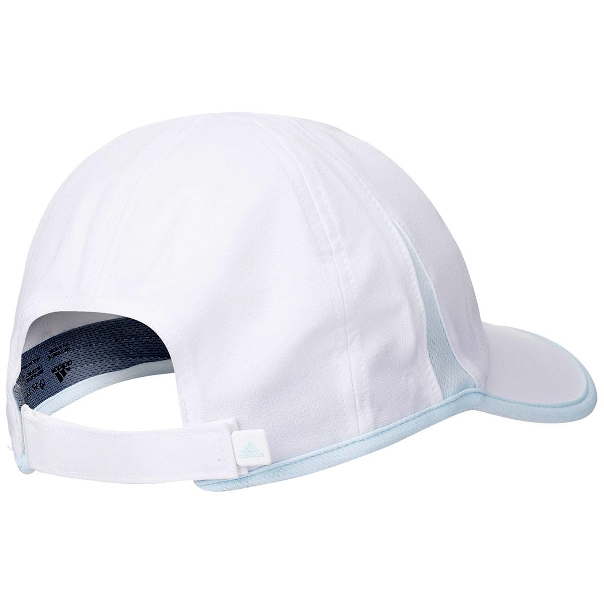 Women's Adidas Superlite Cap - Color: White/Sky Tint Blue - Size: One Size, White/Sky Tint Blue, large, image 2