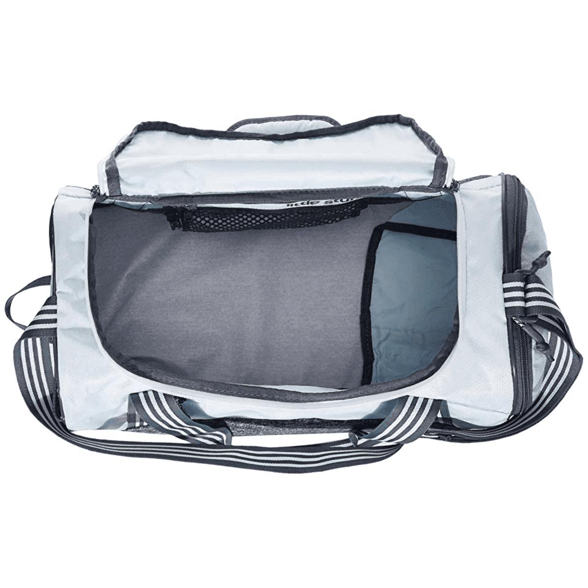 Adidas Squad LV Duffle Bag - Color: Sky Tint Blue/Jersey Onix - Size: One Size, Sky Tint Blue/Jersey Onix, large, image 3