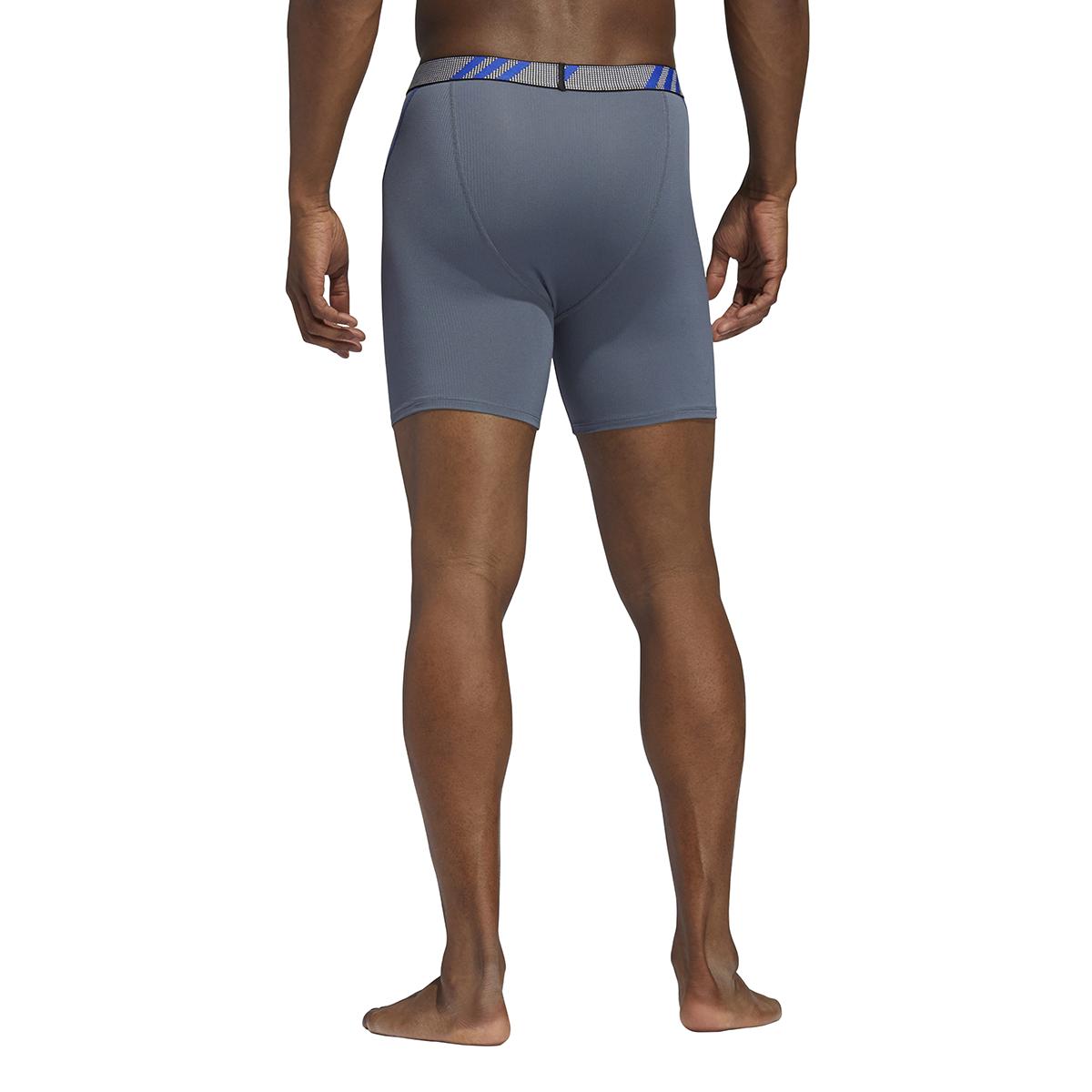 Men's Adidas Performance Mesh 3 Pack Boxer Briefs - Color: Onix Grey/Blue - Size: S, Onix Grey/Blue, large, image 5