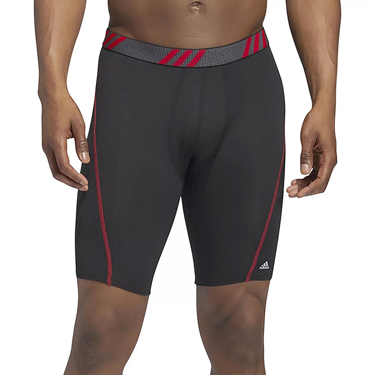 Men's Adidas Performance Mesh 3 Pack Boxer Briefs - Color: Black/Scarlet/Onix - Size: S, Black/Scarlet/Onix, large, image 3