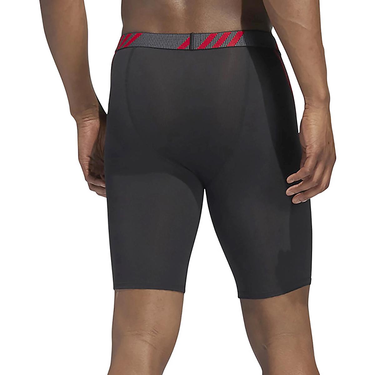 Men's Adidas Performance Mesh 3 Pack Boxer Briefs - Color: Black/Scarlet/Onix - Size: S, Black/Scarlet/Onix, large, image 4