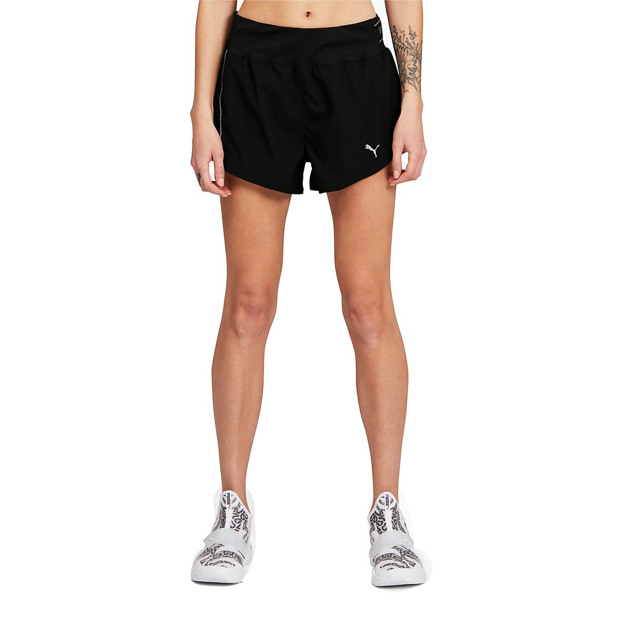 "Women's Puma COOLadapt 3"" Running Shorts - Color: Puma Black - Size: XS, Puma Black, large, image 1"