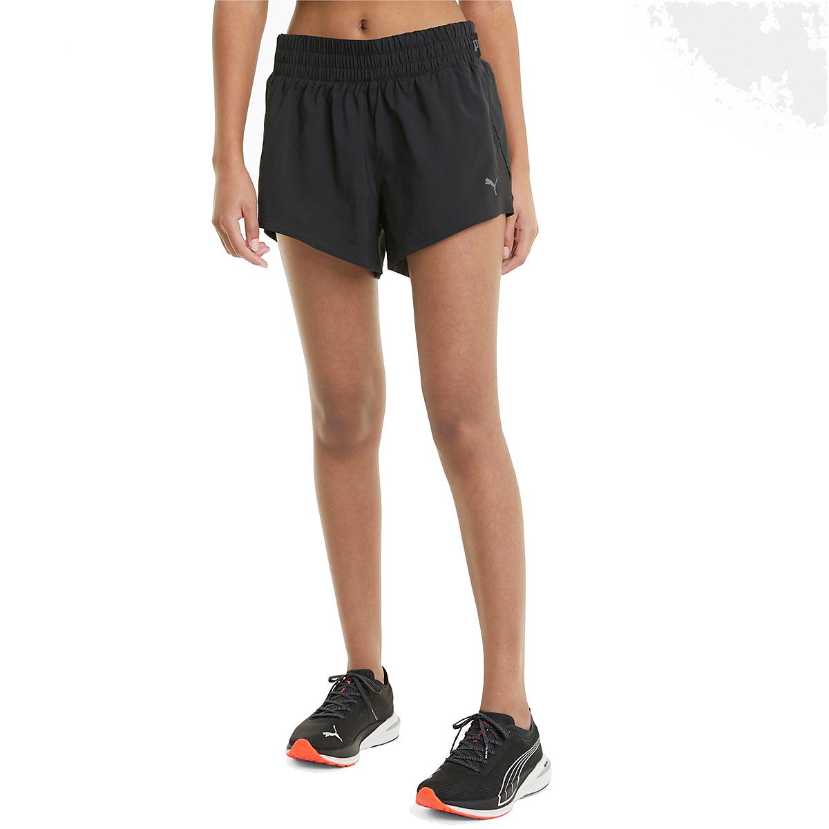 "Women's Puma Run COOLadapt Woven 3"" Short - Color: Puma Black - Size: XS, Puma Black, large, image 1"
